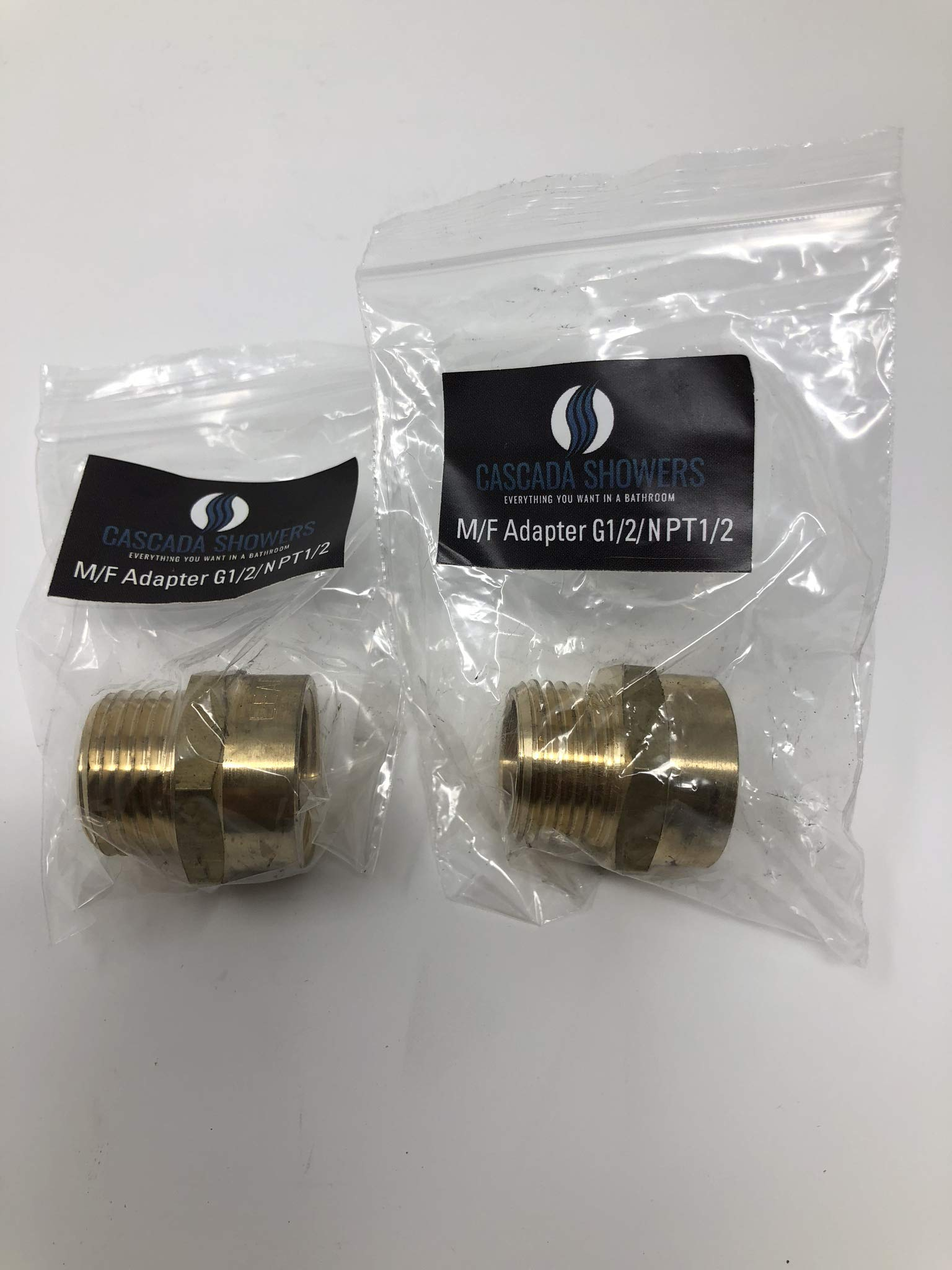 G Thread (Metric BSP) Male to NPT Thread Female Pipe Fitting Adapter - Lead-Free Adapter (Two 1/2 inch)