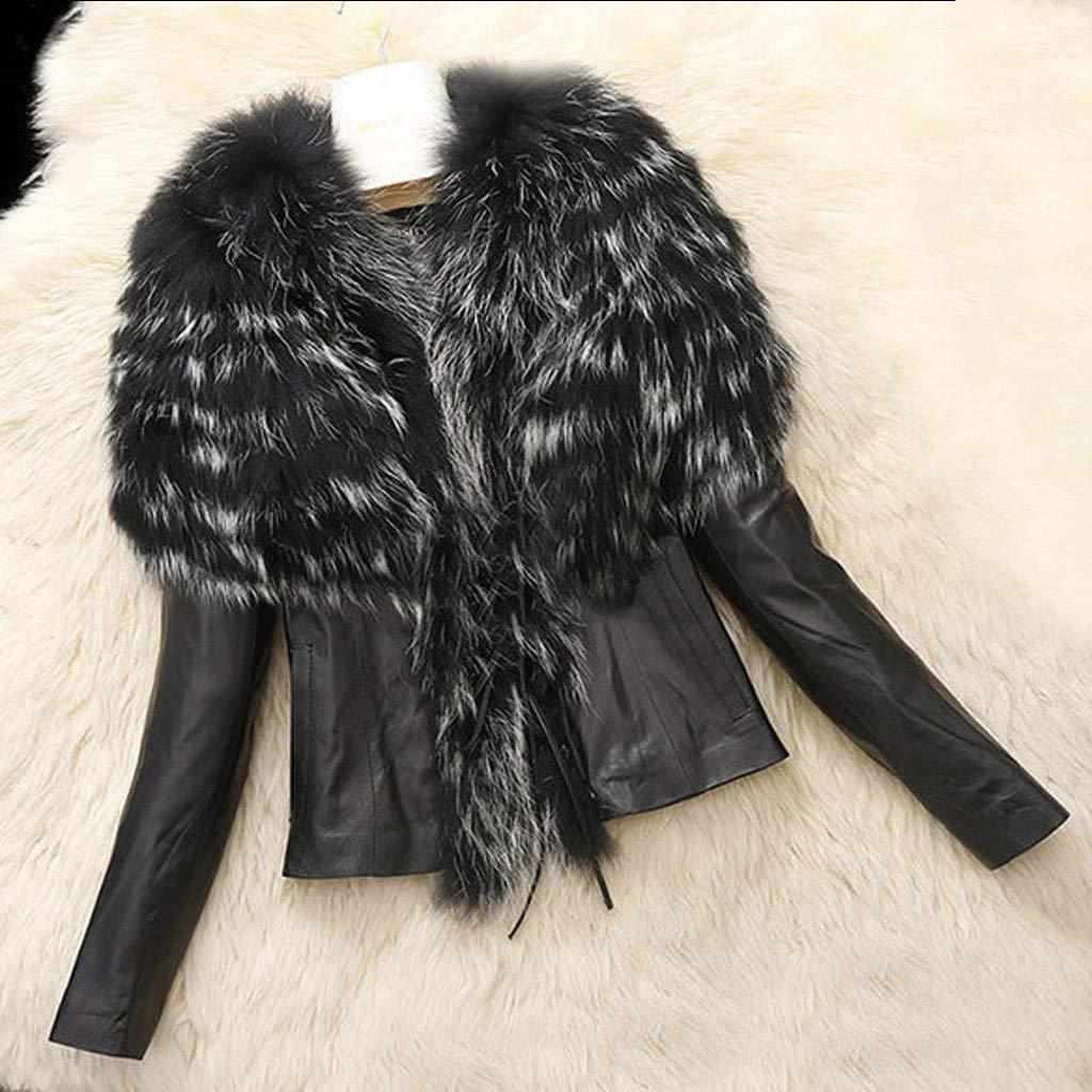 AMhomely Women Coat and Jacket Sale Trendy Women Leather Zipper Jacket Slim Biker Motorcycle Coat Punk Outwear Winter Warm Overcoat Long Hooded Jacket Parka Outwear UK