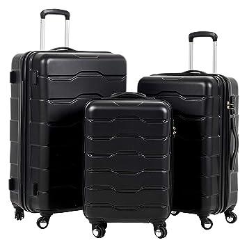 Amazon.com: Murtisol - Juego de 3 maletas de plástico ABS ...