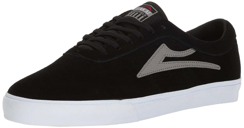 Lakai Sheffield Skate Shoe B073SPF1SX 12 M US|Black/Grey Suede