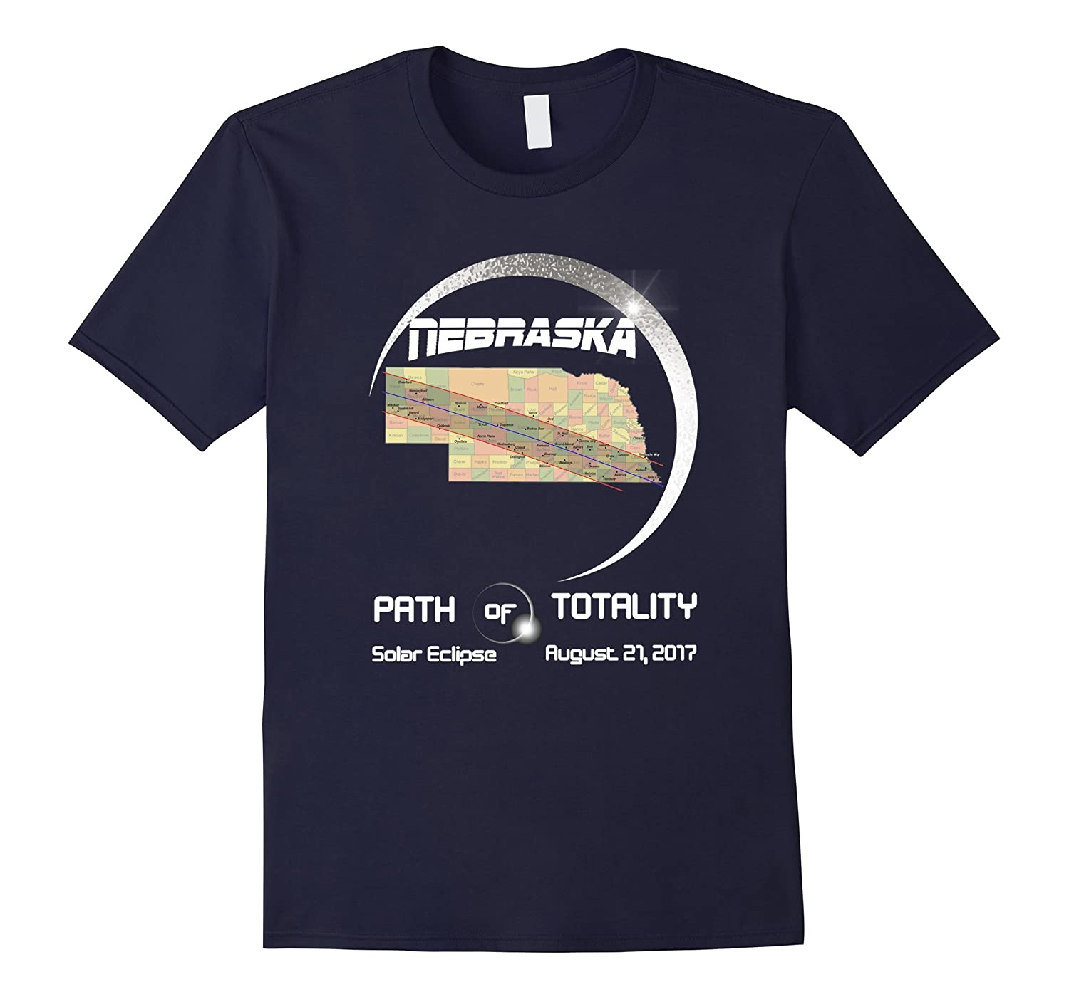 Nebraska path of totality solar eclipse T-Shirt-BN