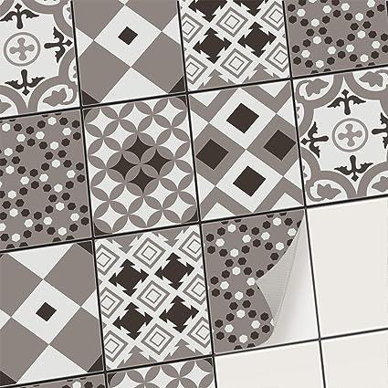 Autocollant Muraux Pour Carreaux De Ciment I Stickers Carrelage Adhesifs Mural Salle De Bain Et Credence Cuisine I Pvc Stickers Facile A Appliquer