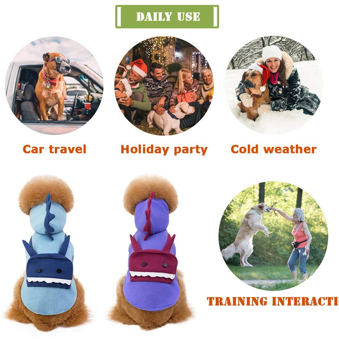 Adatto per Cani di Piccola e Media Taglia Natale Robot Sport TVMALL Cosplay Cappotti e Giacche per Cani con Cappuccio Cuccioli Inverno Freddo Feste per Halloween