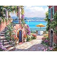 Lamdoo senza cornice Park Villa DIY dipingere con i numeri pittura a olio su tela Home Wall Decor