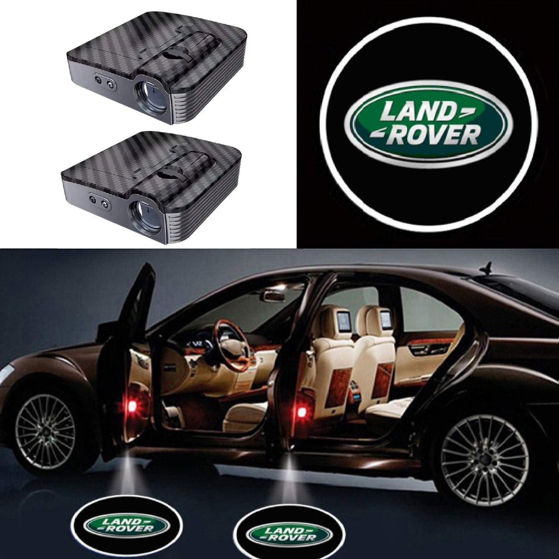 2pcs Universal Wireless Smart Sensor Car Projection LED Projector Door Ghost Light Shadow Light Welcome Light Laser Emblem Logo Courtesy Lights Lamps for Auto ALL Models