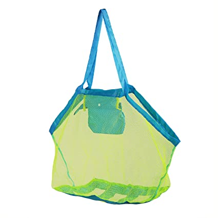 f7a142f9b1 Image Unavailable. Image not available for. Color  ATOYS Extra Large Beach  Mesh Toys Bags and Totes Blue ...