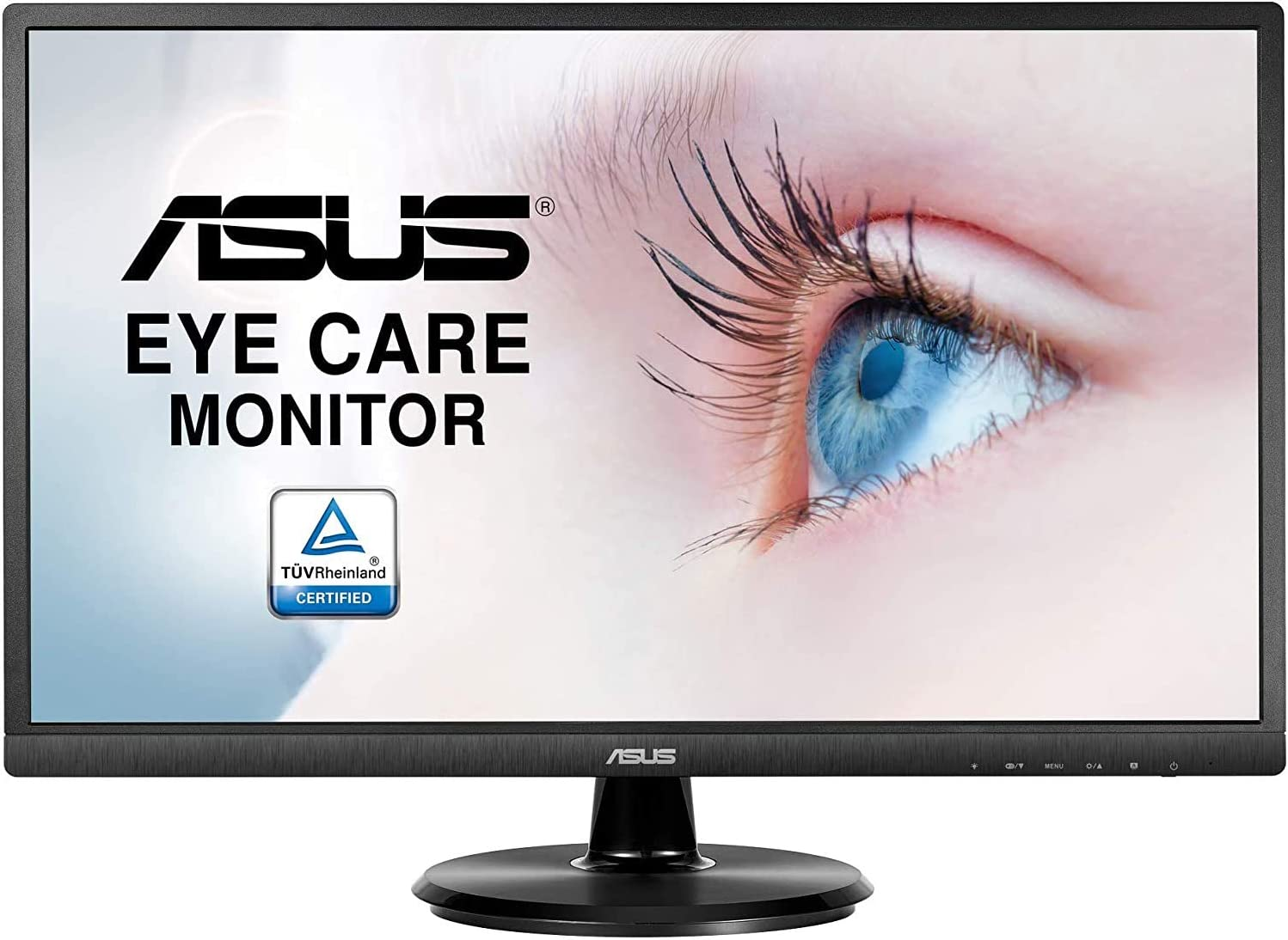 "Asus VA249HE 23.8"" Full HD 1080P HDMI VGA Eye Care Monitor with 178° Wide Viewing Angle,Black"