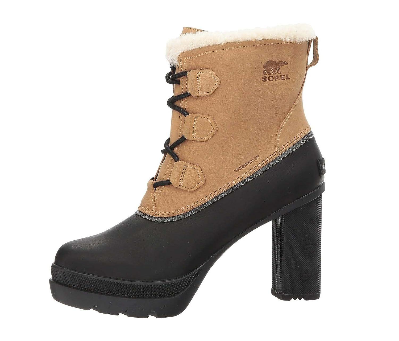 Sorel Damen Winter Stiefelette Stiefel NL2551-373 DACIE LACE Curry Braun Schwarz