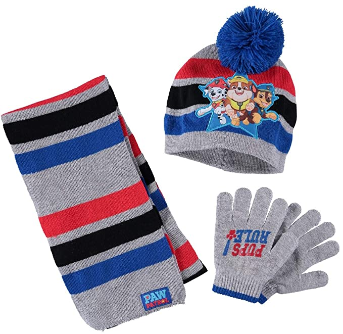 d44565da956ad Nickelodeon Toddler Boys Paw Patrol Hat and Mitten Cold Weather Set  (Blue Grey