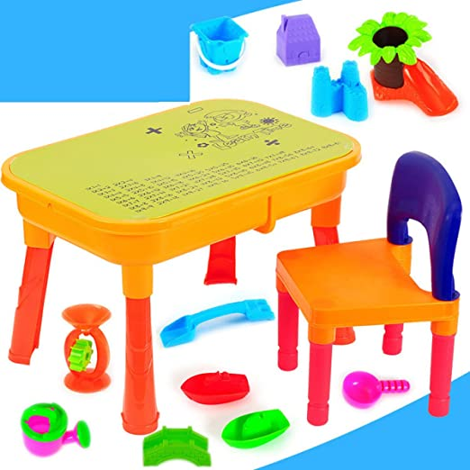 LYQZ Juguetes de Playa Juguetes de Playa para niños Mesa de Arena Mesa de Agua Juego de Rompecabezas de Playa para niños: Amazon.es: Hogar