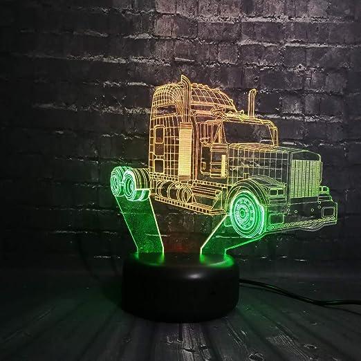 wangZJ Dual Color 3d Lámpara Led Coche Luz de noche/batería ...