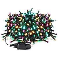 Avoalre Luz Navidad 20M 200 LED Guirnalda Luces Cadena de Luz con 8 Modos 4 Colores Guirnalda Decoracion Impermeables…