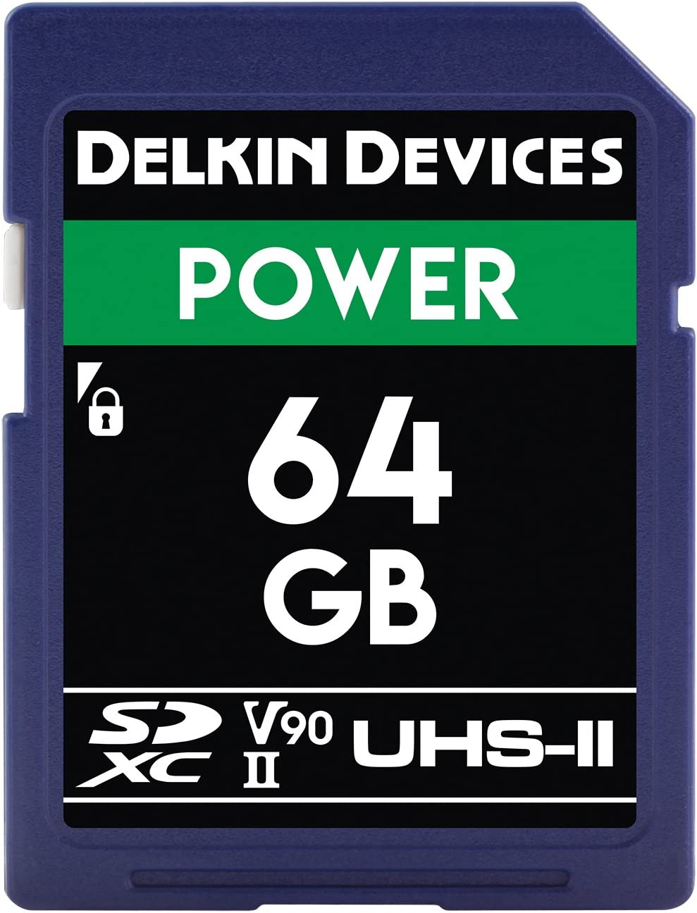 Memory Card U3//V90 Delkin DDSDG2000128 Devices 128GB Power SDXC UHS-II