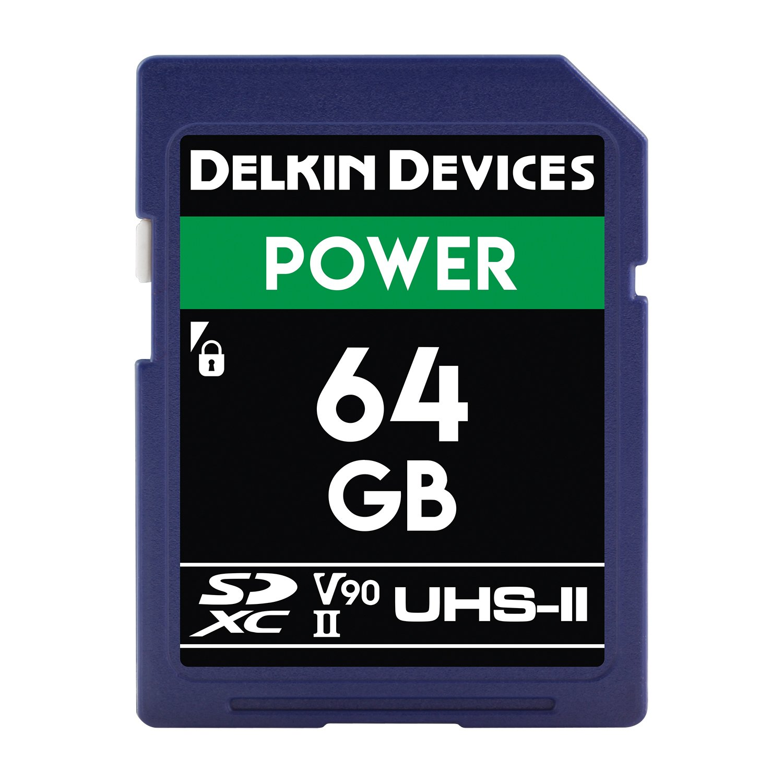 Delkin DDSDG200032G 32GB Power SDHC 2000X UHS-II (U3/V90) Memory Card