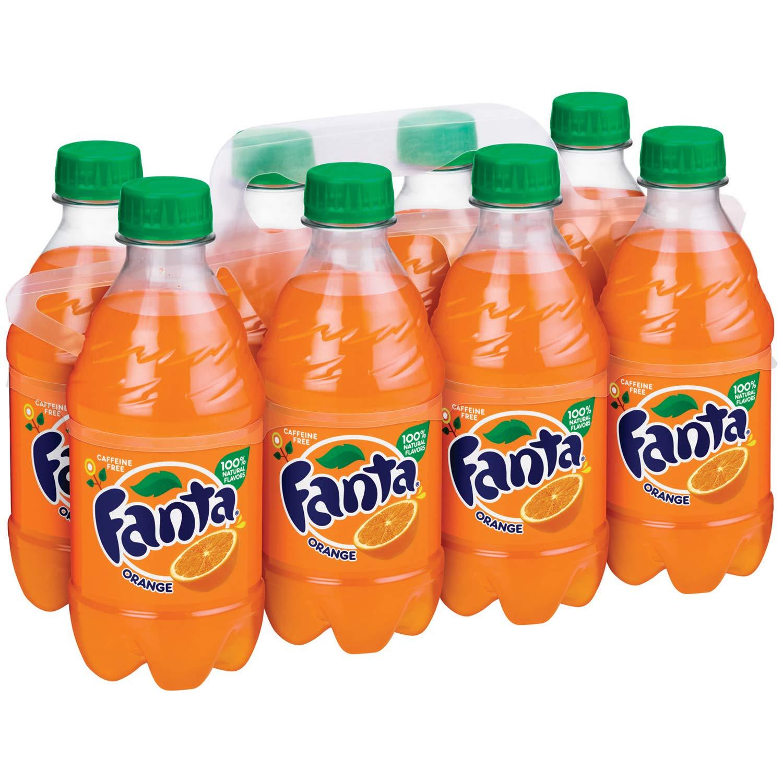 Fanta Orange Soda Fruit Flavored Soft Drink, 12 fl oz, 8 Pack
