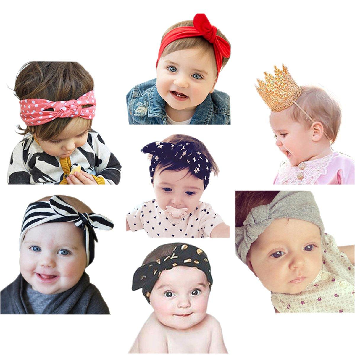 Jmitha Baby boy Crown headband Elastic Hairband hair accessories - 7  pieces  Amazon.co.uk  Clothing 60f1c478c5a