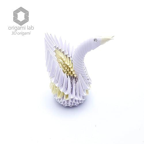 Bomboniere Matrimonio Origami.3d Origami Mini Cigno Di Carta Crystallizedtm Swarovski