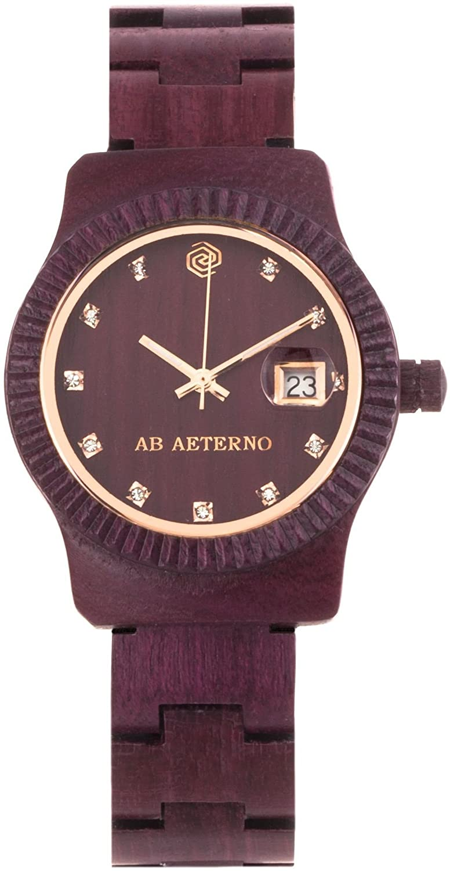Ab Aeterno Tramonto Damenuhr Purpurholz violett ABSW003
