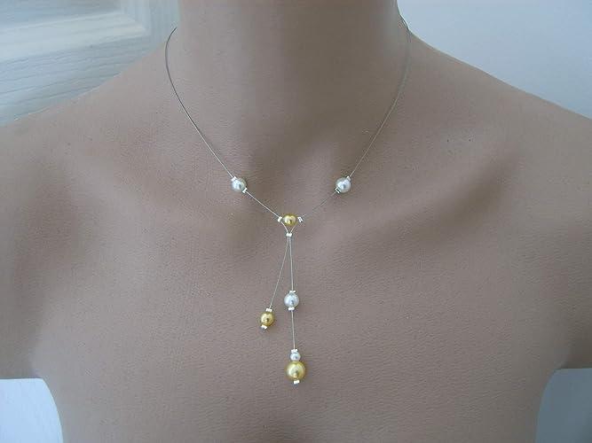 Collier Noir perle robe Mariée//Mariage//Soirée//Cérémonie style culture pas cher