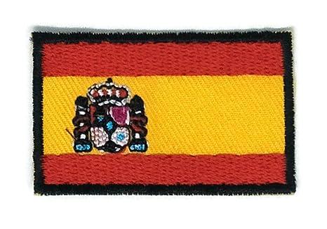 Parche para planchar con la bandera de España bordado, tamaño mediano