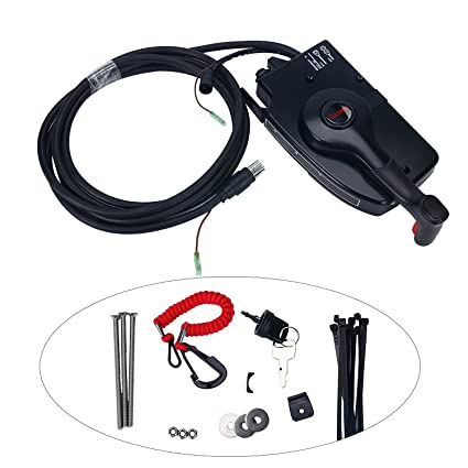 amazon com: amarine-made 881170a3 boat motor side mount remote control box  with 8 pin for mercury outboard engine 8pin: sports & outdoors