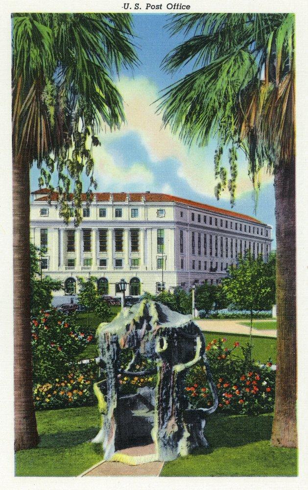 San Antonio、テキサス – Exterior View of the US Post Office 24 x 36 Giclee Print LANT-28985-24x36 B017ZJX690  24 x 36 Giclee Print