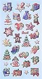 Creapop Sticker Softysticker * Adventszahlen Adventskalender * Aufkleber