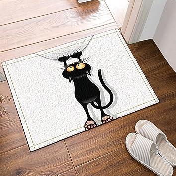 CDHBH Alfombra de baño para Gatos, Antideslizante, para Colgar en el Suelo, entradas, al Aire Libre, Interior, 60 x 40 cm, Alfombra de baño, ...