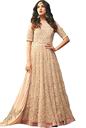 6b91adaa3 Women s Anarkali Salwar Kameez Designer Indian Dress Ethnic Party  Embroidered Gown at Amazon Women s Clothing store