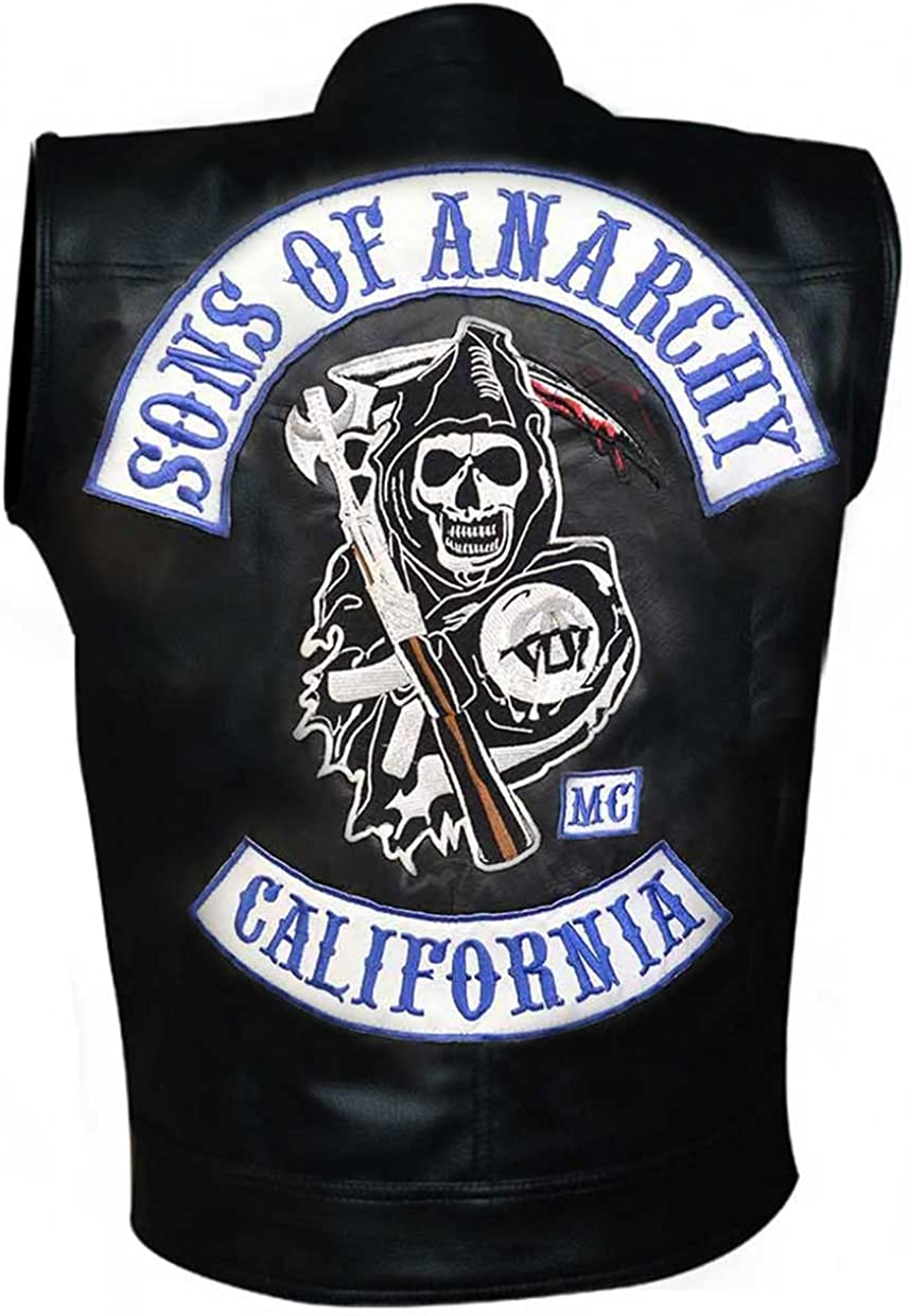 Sons Of Anarchy Motorcycle Vest With Patches Amazon Ca Clothing Accessories