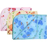 Dreambaby Waterproof Plastic Nappy Changing Sheets (Multicolour, 0-3 Months) - Set of 3
