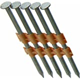 "Mayfair Grip Rite Prime Guard GR408HG1M 21 Degree Plastic Strip Round Head Exterior Galvanized Collated Framing Nails, 3"" x 0"