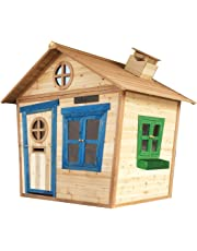 Big Game Hunters 6 x 5 Redwood Mansion Wooden Playhouse, Painted Childrens Large Garden Outdoor Wendy House with Chalkboard and Letterbox