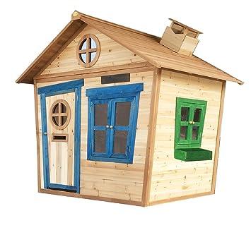 6 X 5 Redwood Mansion Holzspielhaus Gemalt Für Kinder Großes