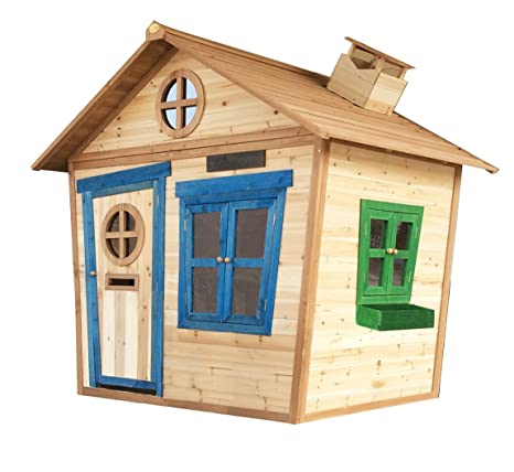 30f3a7a7f 6 x 5 Redwood Mansion Playhouse with Floor, Wooden Painted Childrens Large  Garden Outdoor Play House with Letterbox: Amazon.co.uk: Toys & Games