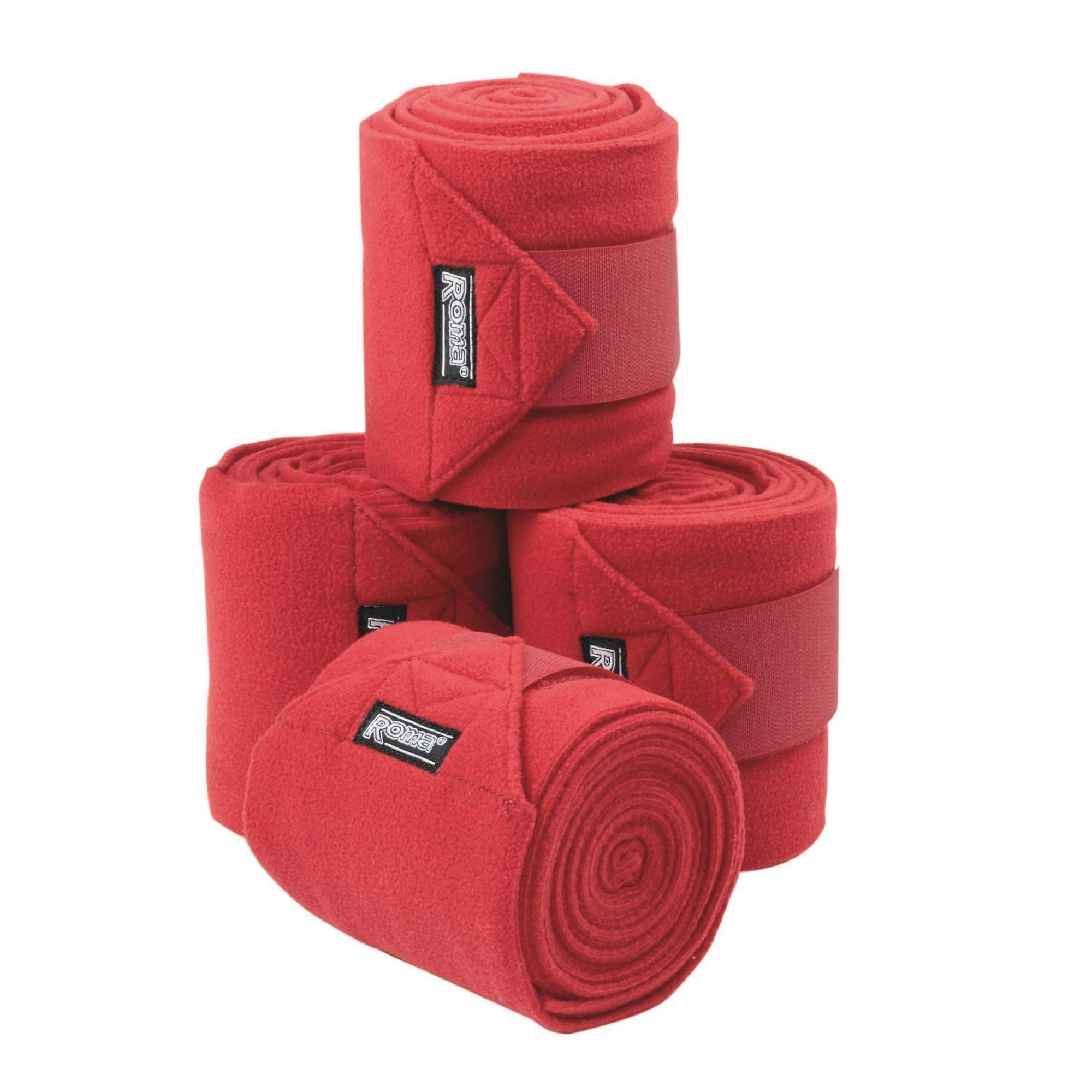 Roma Thick Polo Bandages (Pack Of 4) (One Size) (Fuchsia) by Roma