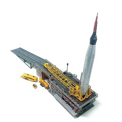 Atlas Rocket Plastic Model Kit with Launch Pad and Mercury Capsule STEM a Salute to John Glenn Atlantis: Toys & Games