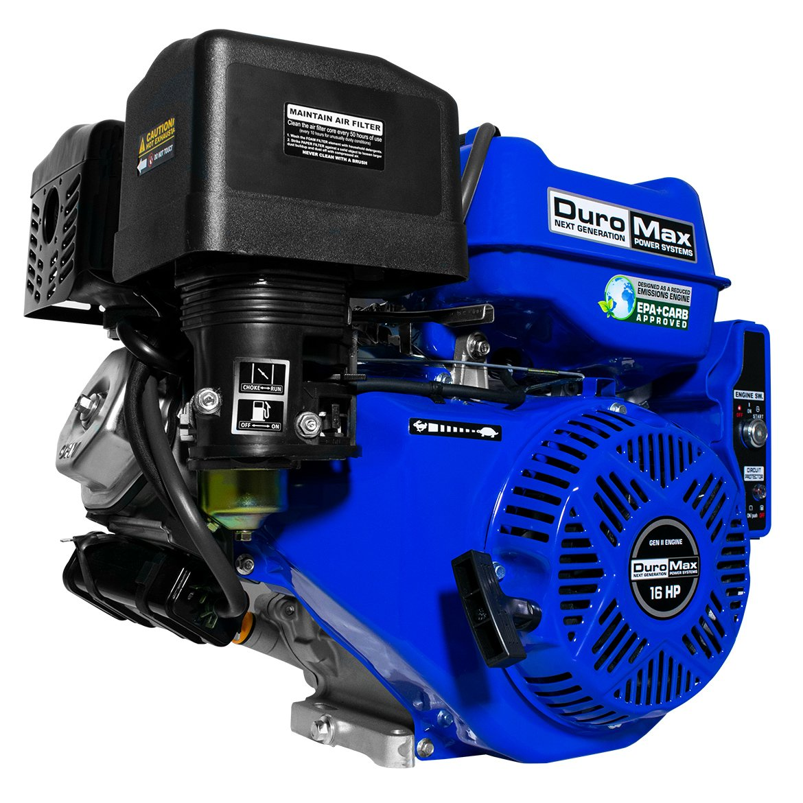 Amazon.com : DuroMax XP16HPE 16 hp Electric/Recoil Start Engine : Two  Stroke Power Tool Engines : Garden & Outdoor