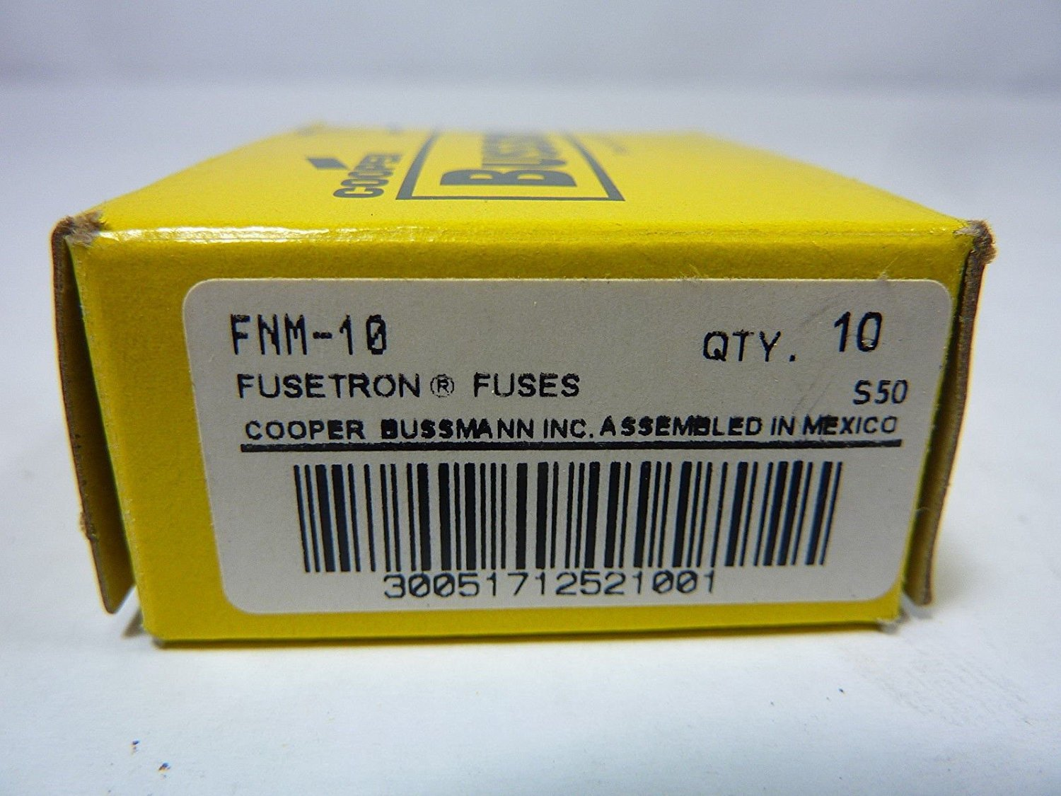 Bussman FNM-10 Dual Element Time Delay Fuse 10A 250V Box of 10