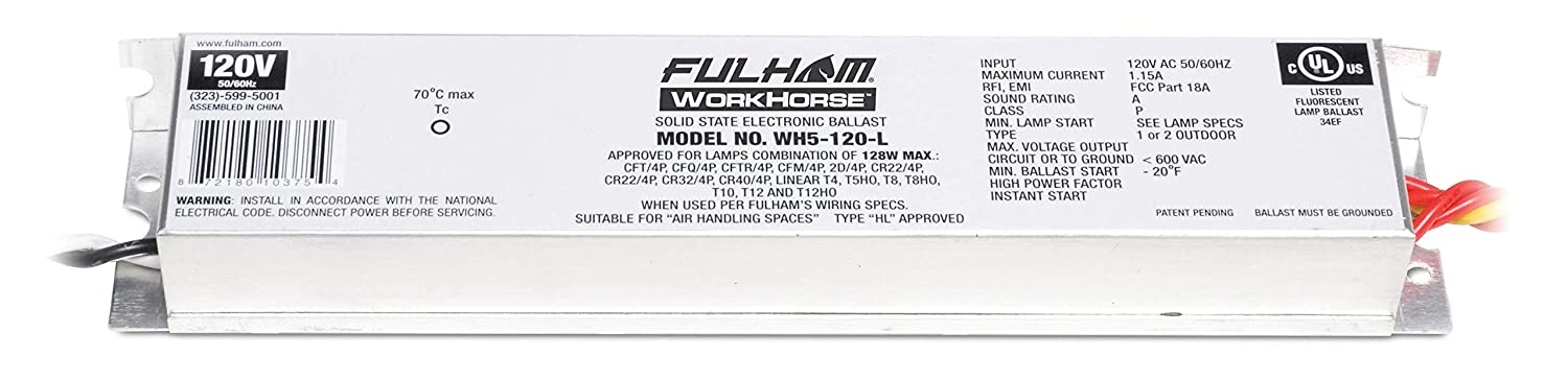 Amazon.com: Fulham T5 HO Workhorse 5-120 Volt: Home Improvement on fulham workhorse 2 ballast, workhorse chassis wiring diagram, fluorescent light ballast diagram, tao tao 110cc atv wiring diagram, fulham ballast logo, fulham balast diagram, fulham ballast warranty, honda gx120 parts diagram, fulham ballast wiring diagram 277 wh22 l, honda gx670 fuel diagram, sterling truck parts diagram, fulham ballast emergency, fulham electronic ballast wiring diagram,