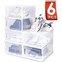 Amzdeal Cajas de Zapatos Plásticas 6 Pcs