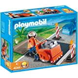 Playmobil - 4044 - Ouvrier avec Scie à Bitume