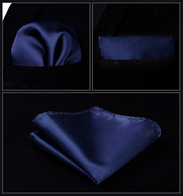 Pocket Square Set Mens Classic Solid Party Wedding Necktie Jacquard Waistcoat Vest Pocket Square Tie Suit Set