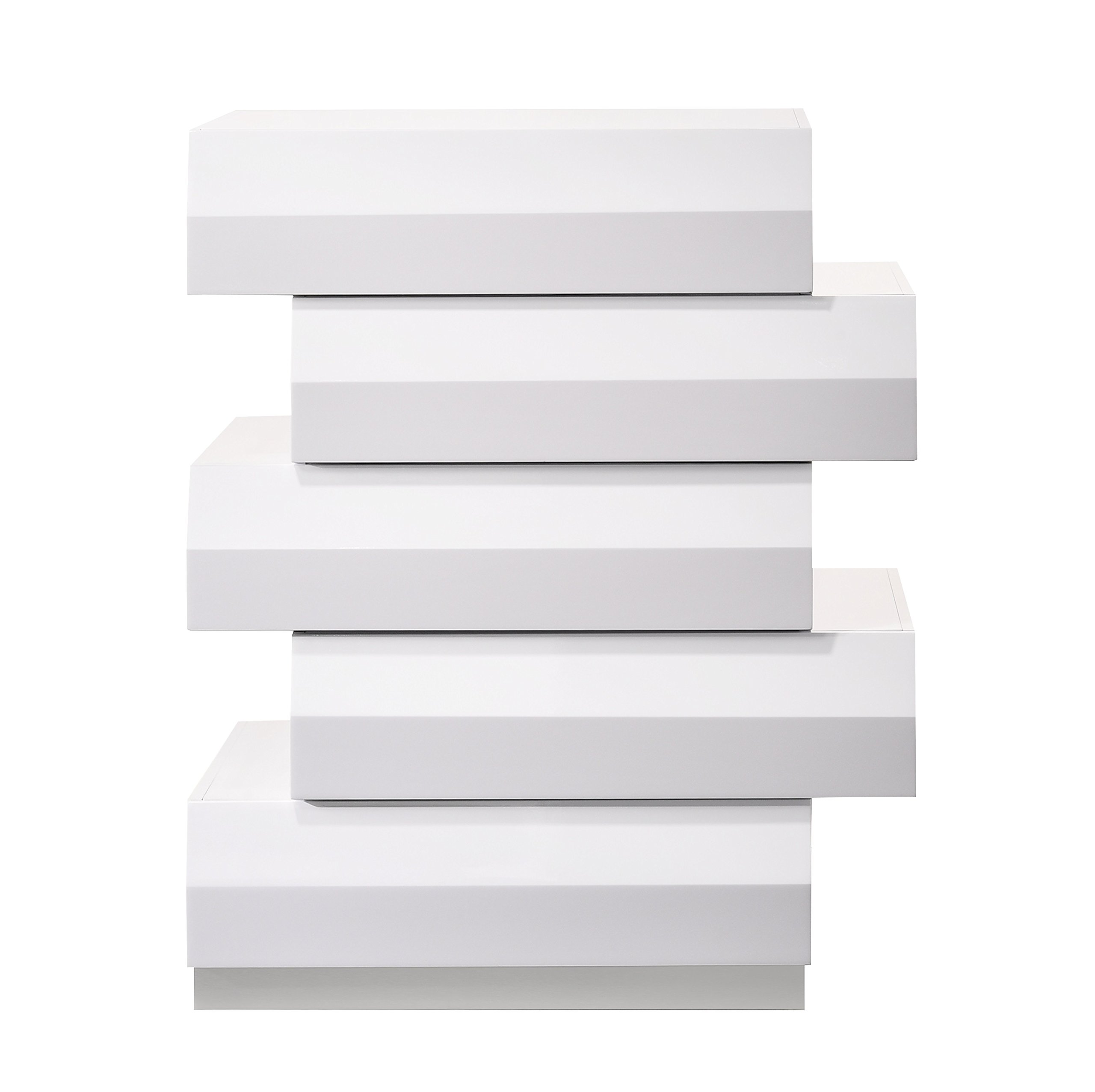 J and M Furniture Milan Chest in White by J&M Furniture