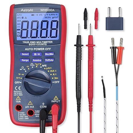 astroai digital multimeter trms 6000 counts volt meter manual and rh amazon com