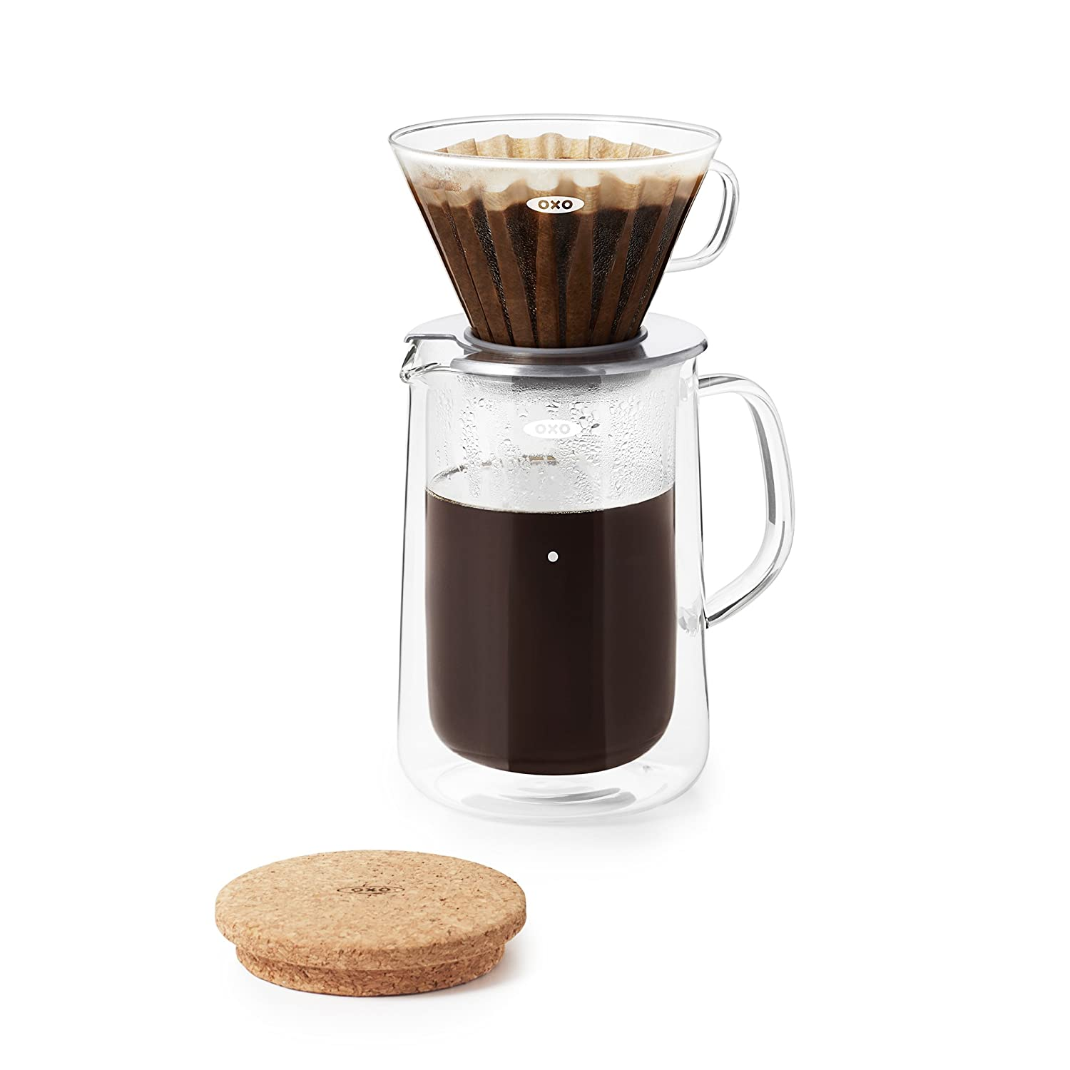 OXO BREW Glass Pour-Over Set