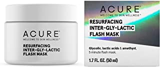 product image for ACURE Resurfacing Inter-Gly-Lactic Flash Mask | 100% Vegan |Illuminating Flashy Glow | Glycolic, Lactic Acids & Amethyst | 5 Minute Flash Mask | 1.7 Fl Ounce
