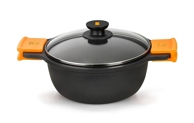 Braisogona BRA EFFICIENT - Tall casserole dish with glass lid and silicon handles, 20 cm Braisogona_A270320