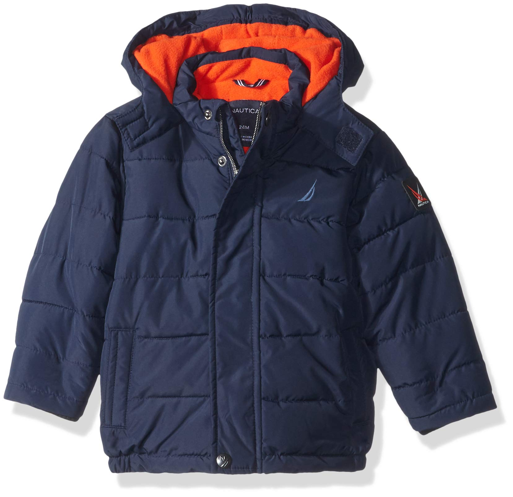 Nautica Baby Boys Signature Puffer Jacket with Storm Cuffs, Sport Navy, 18 Months by Nautica