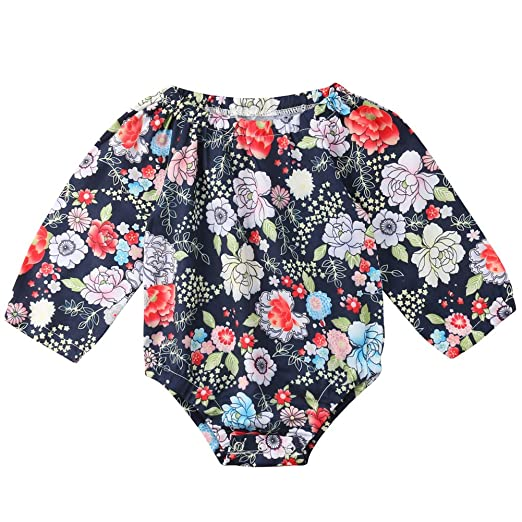 9418876671f1 Amazon.com  Newborn Kids Baby Girls Clothes Floral Outfits Set Long ...